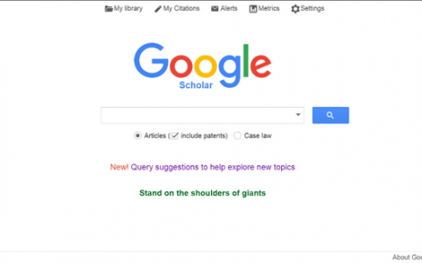 What is Google scholar and what is it for?